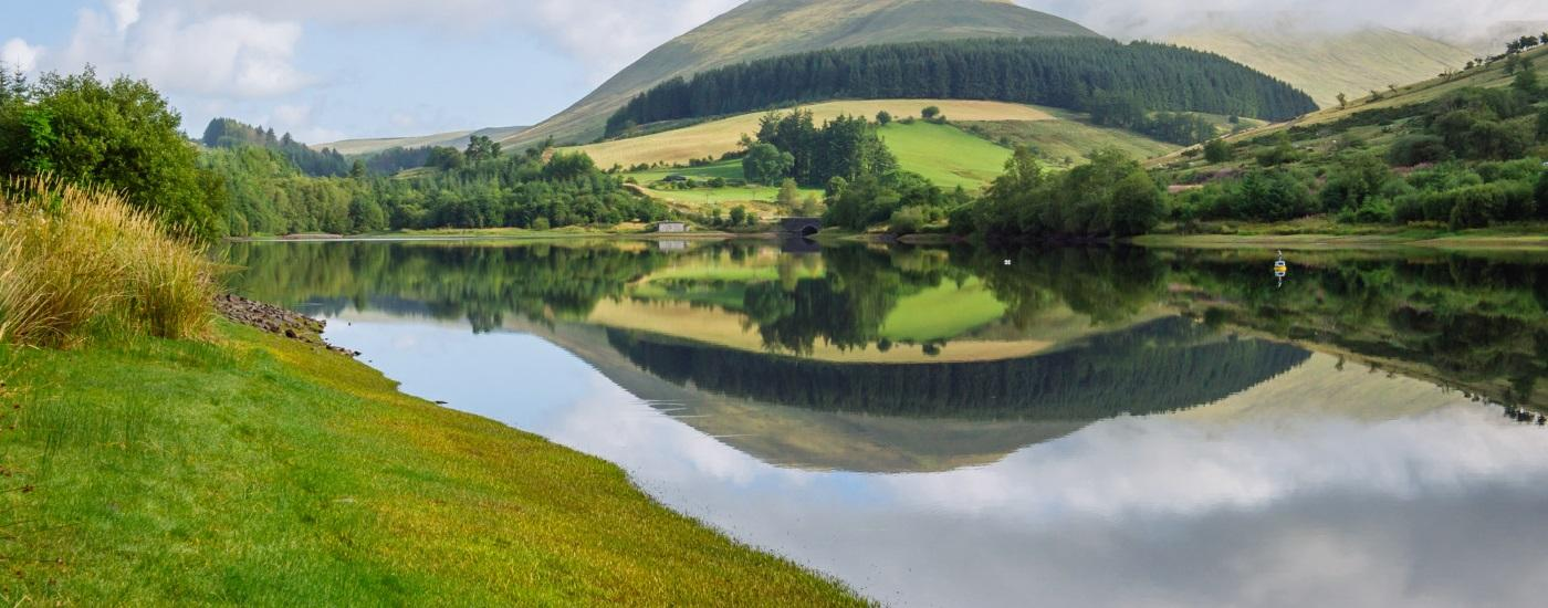 Mountain And Lakes In Mid Wales